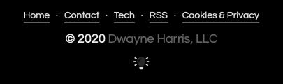 Screenshot of the color scheme toggle (dark mode)