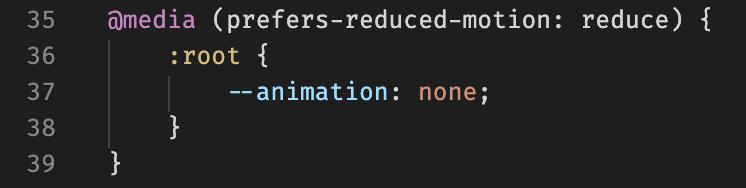 prefers-reduced-motion media query